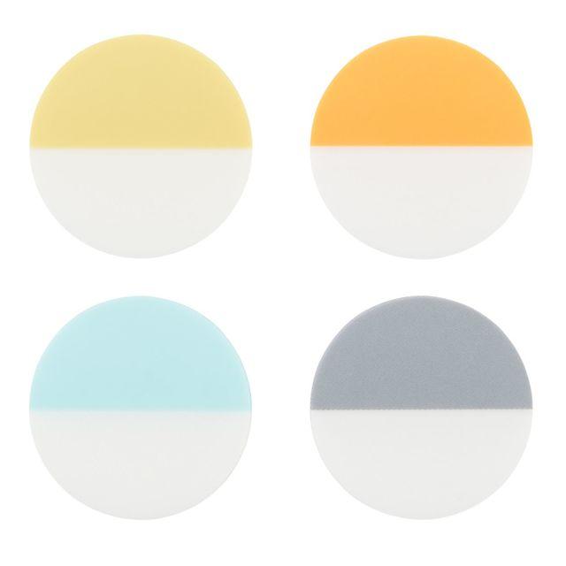 インデックス付箋紙・フィルムタイプ・丸型 20枚×4色