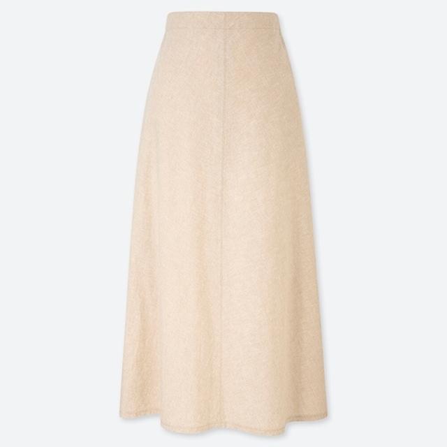 リネンコットンロングスカート(丈標準80~84cm)