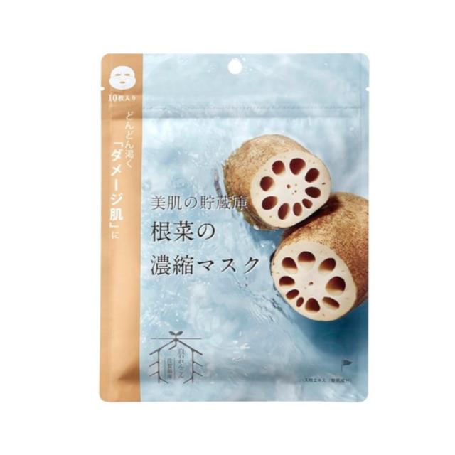 @cosme nippon|美肌の貯蔵庫 根菜の濃縮マスク 白石れんこん 10枚入り
