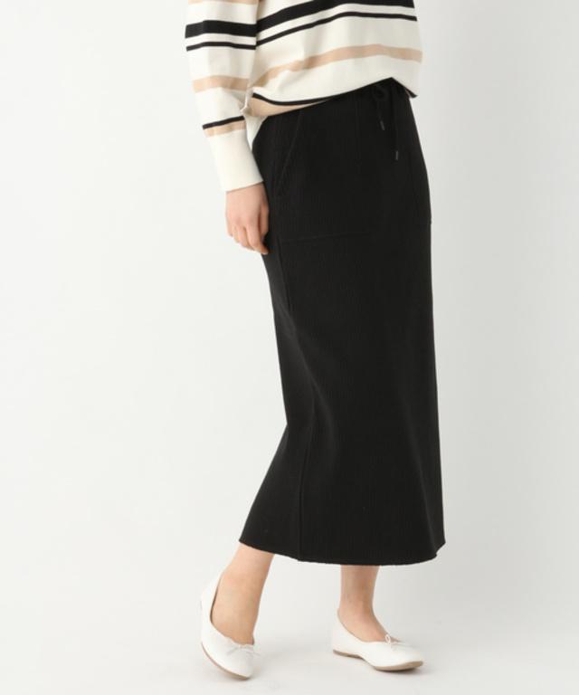 ミリタリーリブタイトスカート