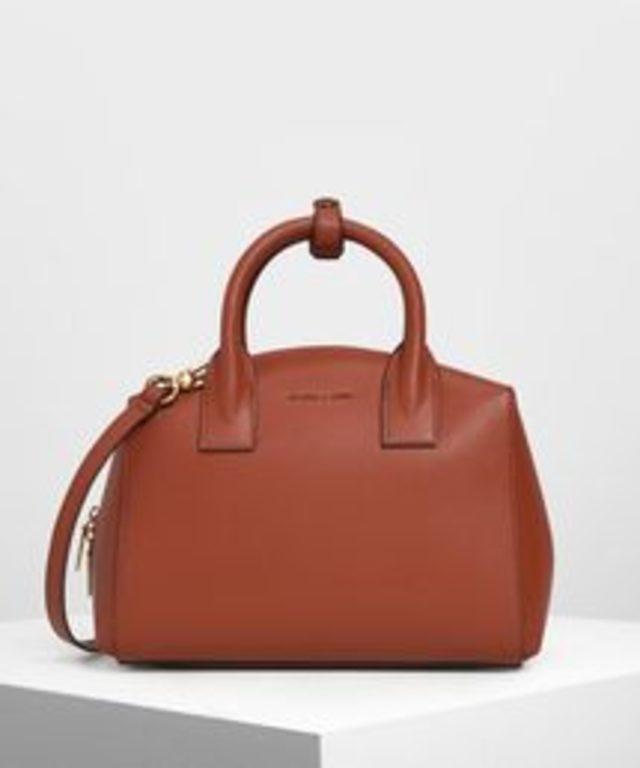 クラシックストラクチャード トップハンドルバッグ / Classic Structured Top Handle Bag
