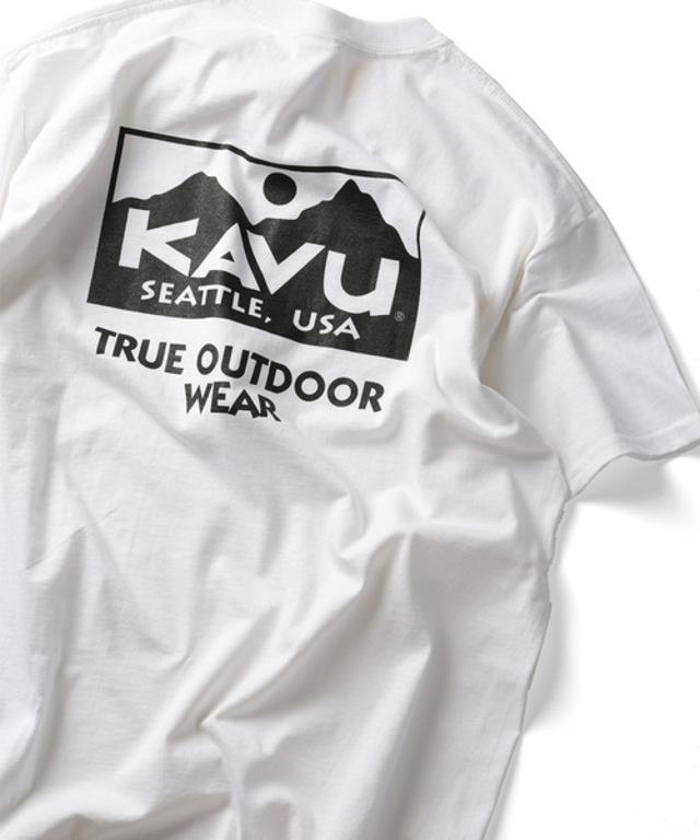 WEB限定 KAVU/カブー True ロゴ 半袖Tシャツ