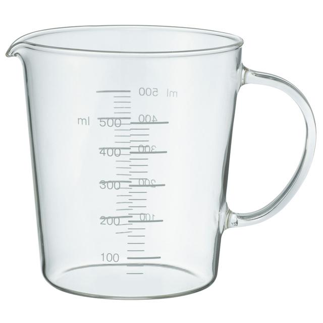 耐熱ガラスメジャーカップ 500ml