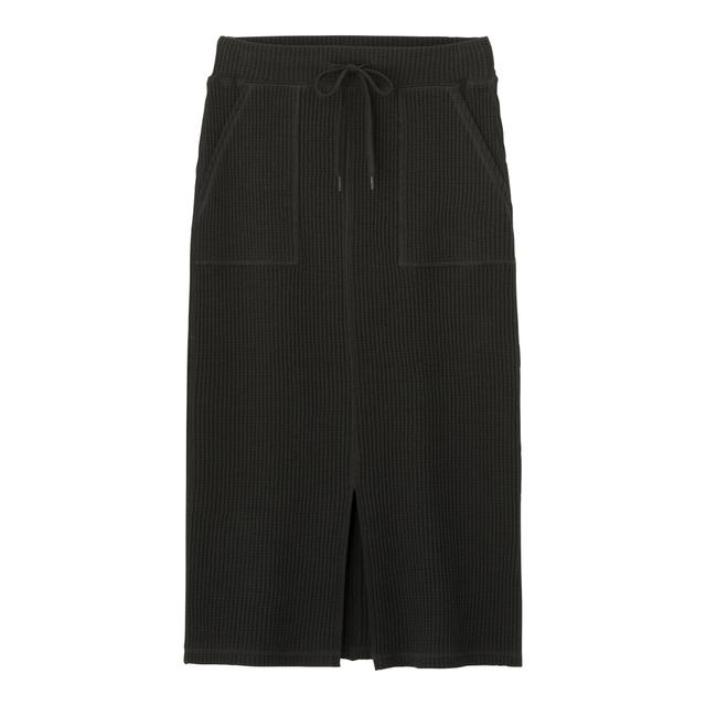 ワッフルドローストリングナロースカート