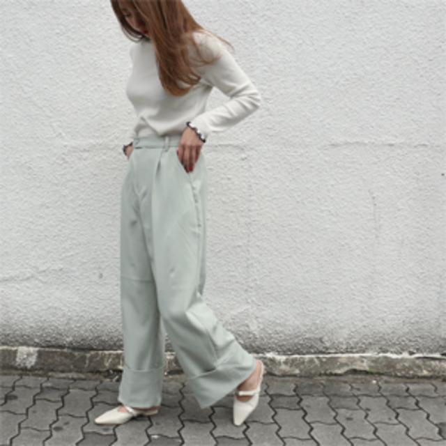 Center press wide pants