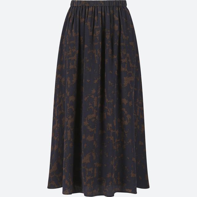 プリントフレアスカート(丈標準73~77cm)