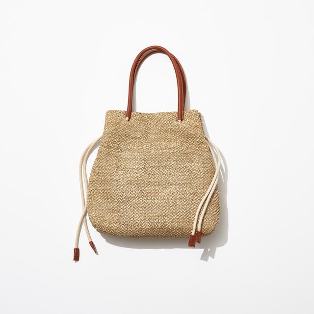 Kiara|雑材風トートバッグ 全2色