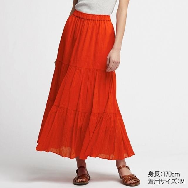 ティアードロングスカート(丈標準86~90cm)